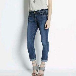DL 1961 Toni High Rise Crop Denim Jeans SZ 27